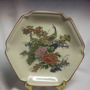 Vintage Japanese style Peacock Plate